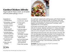 SELF Mgazine Garden Chicken Alfredo