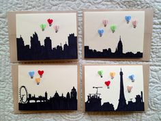 Obsessed with these for	travel/hot air balloon themed shower!!