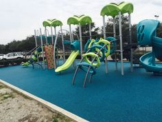 Braden River Park in Bradenton, Florida has a bright and cheery playground thanks to the partnership of No Fault Sport Group and Miller Recreation.  Over 2,500 square feet of our No Fault Safety Surface was installed in a stunning teal color to compliment the beautiful Miracle play equipment!  Children that visit this park will enjoy the new play area and love being outdoors.