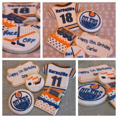 Happy Birthday to 2 wonderful young men! Birthday Cookies, Birthday Cake, Birthday Parties, Happy Birthday, Birthday Ideas, Hockey Birthday, Cupcakes, Party Themes, Party Ideas