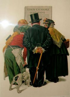 Stock Exchange by Norman Rockwell