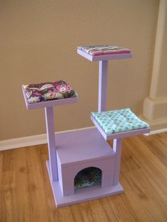 Cat Tree  Cat House  Cat Bed for American by paynestdollboutique, $90.00