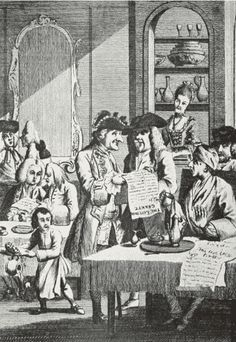 18th Century French coffee house