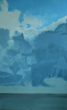 "Nordsee Malerei auf Leinwand Saatchi Online Artist Karoline Kroiss; Painting, ""Nordsee Northsea"" #art"