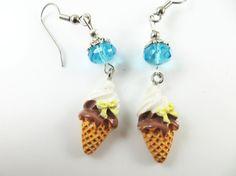 Girls vanilla and chocolate ice cream cone by jewelryandmorebykat