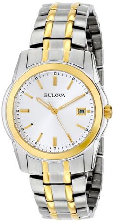 Bulova Mens 98H18 TwoTone Bracelet Watch * Read more reviews of the product by visiting the link on the image. (This is an affiliate link and I receive a commission for the sales)
