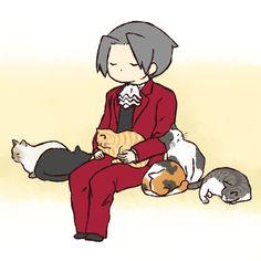 「御剣と猫+α まとめ」/「mimitab」の漫画 [pixiv]