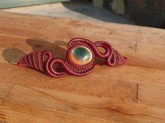 bracelet macrame avec pierres semi précieuses oeil de lucie : Bracelet par manifil