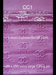 Louis Vuitton rolling pin for fondant Chanel Cookies, Chanel Cupcakes, Chanel Cake, Chanel Purse, Cake Topper Tutorial, Cake Toppers, Shoe Cakes, Purse Cakes, Louis Vuitton Cake
