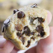 Skinny Chocolate Chip Banana Muffins