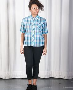 Colourful Checked Short Sleeved Shirt