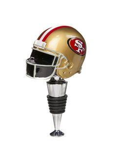 San Francisco 49ers Football Helmet Wine Bottle Stopper