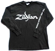Mens Size XL Zildjian Cymbals Black Long Sleeve T Shirt, Drumming, Percussion. $14.99 FREE SHIP!