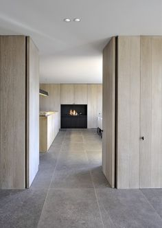 Interior by D Interieur - picture by Tom Fossaert - clean lines - built in like a boat...