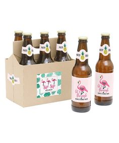 Look what I found on #zulily! Let's Flamingle Personalized Bottle Label & Carrier Set #zulilyfinds