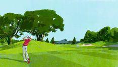 東急ゴルフリゾート #golf #green #sports #illustration #people #tatsurokiuchi #japan