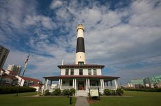 Absecond Lighthouse in Atlantic City, NJ.