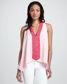 Beaded Georgette Tank Top by T Bags at Neiman Marcus.