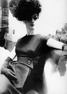 Simone D'Aillencourt photographed by Lillian Bassman, 1960's.