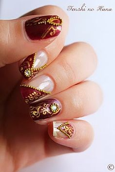 Beautiful nail art for wedding