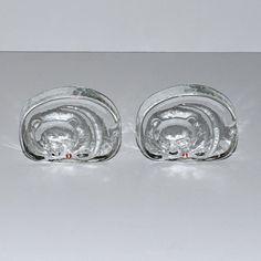 Modernist Iittala Finland Glass Bear Paperweights by DesignSoldier