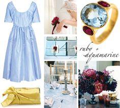 ruby+and+aquamarine+wedding+board