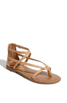 nude strappy flat sandal
