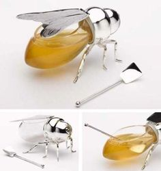 Honey... Bee jar. Can be purchased here- http://www.thegreatgiftcompany.com/misc_categories/gift_ideas/mens/honey_bee_jam_or_honey_pot.htm