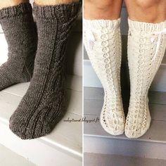 Pitsisukat ja merenkulkijat hääparille lahjaksi, Knitted wedding socks