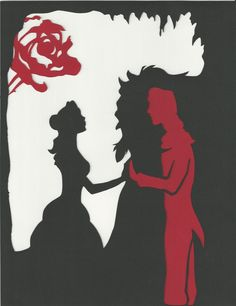 Really love this beauty and the beast silhouette.makes me think of a sleeve of my fav Disney movies instead of just Alice. Disney Pixar, Walt Disney, Disney And Dreamworks, Disney Love, Disney Magic, Disney Art, Disney Belle, Disney Canvas, Funny Disney