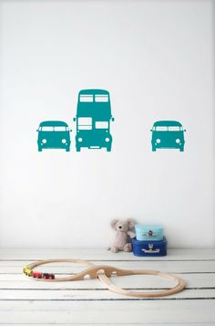 Rush Hour - Turquoise - Ferm Living Wall Stickers