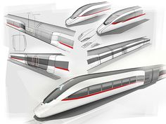TCHx - Skizzen | Eric Seidlitz Transportation Technology, Future Transportation, Airplane Interior, High Speed Rail, Speed Training, Rolling Stock, Truck Design, Dream City, Cool Tech