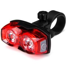 Super Bright 1W 2 LEDs Bicycle Rear Safety Taillight Bike Rainproof Tail Light Cycling Lamp #hats, #watches, #belts, #fashion, #style
