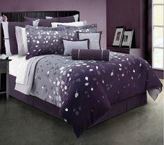 Orange Bedroom Ideas on Purple Bedding Sets Luxury Duvet Covers And Comforter Sets Purple Bedroom Design, Purple Bedrooms, Gray Bedroom, Bedroom Colors, Bedroom Ideas, Bed Ideas, Bedroom Bed, Casual Bedroom, Comfy Bedroom