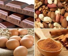 Turróncasero de chocolate sin azúcar sin harina y sin leche - Ingredientes