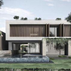 Architecture Model Making, Plans Architecture, Architecture Design, Minimalist House Design, Modern House Design, Home Design, Villa Design, Facade Design, Exterior Design