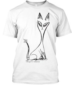 Cat White T-Shirt Front