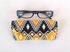 Aztec Eyeglass Case or Sunglass Case Magnetic by nangatesdesigns