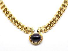 18ct Gold Bvlgari Cabochon Amethyst Pendant & curb link Necklace Bulgari Jewelry, Amethyst Pendant, Chain Pendants, Bvlgari, Necklaces, Bracelets, Gold Coast, Amazing Women, Jewerly