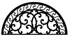 Solid wrought iron half circle wall art crafted out of solid wrought iron in central New York. Add a touch of old world style to your home with this solid piece of artistic splendor. Wall art style 197 measures W x H and weighs seven pounds.
