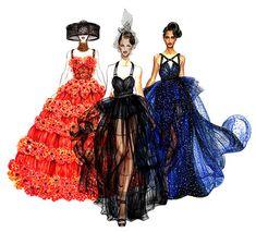 Runway Girls - Watercolor Fashion illustration