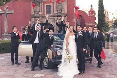 This is awesome,  see how chick the cars looks with the bride and the groomates.