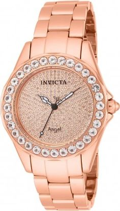 Invicta 14527 Women's Angel Blush Diamond Pave and Morganite Bracelet Watch ** Find out more about the great product at the image link.