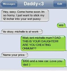 lol, take precautions1! -Naughty dad