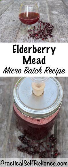 Small Batch Elderberry Mead Recipes -Jellies Fermenting Canning Elderberry recipes Elderberry Recipes, Elderberry Syrup, Elderberry Ideas, Mead Wine, Mead Recipe, Real Food Recipes, Cooking Recipes, Alcohol Recipes, Vinegar