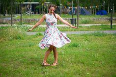 Sommerkleid genäht mit Tulpenrock