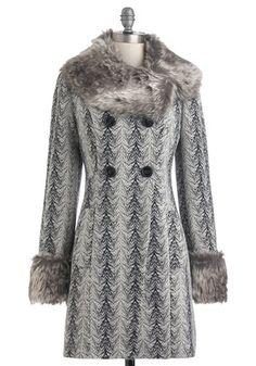 I'm lovin' this coat!  Glam through the Grey Coat, #ModCloth