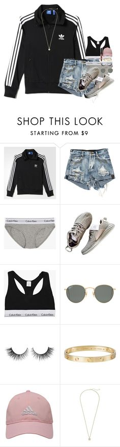 """""""innocent looking girl with a hood playlist"""" by kate-elizabethh ❤ liked on Polyvore featuring adidas, Calvin Klein, Ray-Ban, Rimini, Cartier, adidas Golf and Kendra Scott"""