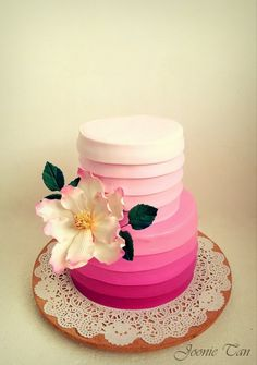 Sweetest Wedding Cake - by JoonieTan @ http://CakesDecor.com - cake decorating website