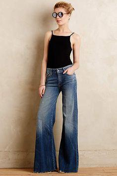Mother Roller Flare Jeans - anthropologie.com